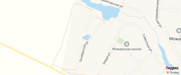 Октябрьская улица на карте села Можарки с номерами домов