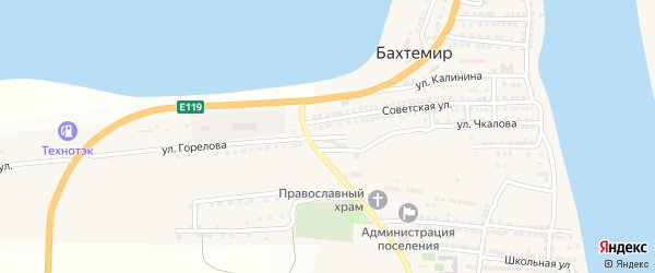 Улица 70 лет Октября на карте села Бахтемира с номерами домов