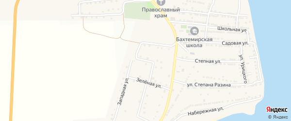 Спортивная улица на карте села Бахтемира с номерами домов