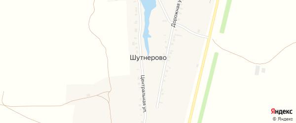Дорожная улица на карте села Шутнерово с номерами домов