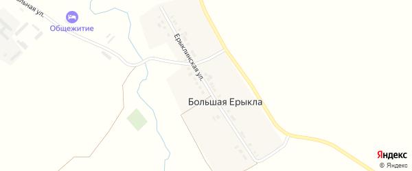 Ерыклинская улица на карте деревни Большей Ерыклы с номерами домов