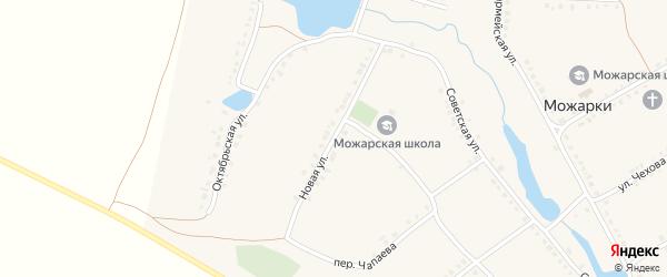 Новая улица на карте села Можарки с номерами домов