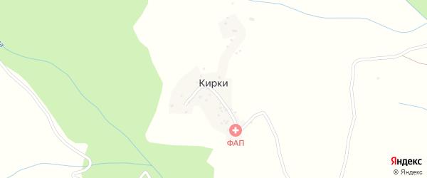 Улица Мира на карте села Кирки с номерами домов