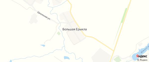 Карта деревни Большей Ерыклы в Чувашии с улицами и номерами домов