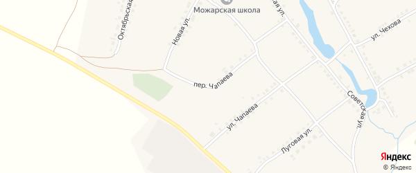 Переулок Чапаева на карте села Можарки с номерами домов