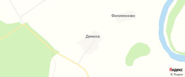 Карта деревни Демихи в Архангельской области с улицами и номерами домов