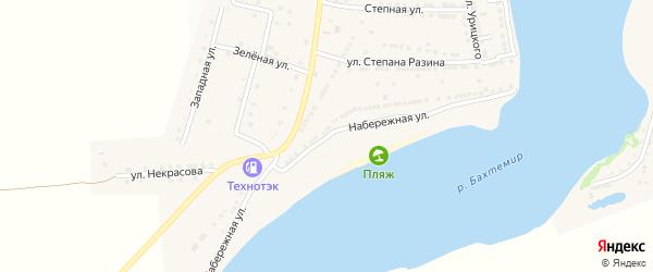 Набережная улица на карте села Бахтемира с номерами домов