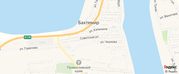 Советская улица на карте села Бахтемира с номерами домов