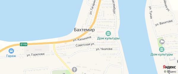 Улица Калинина на карте села Бахтемира с номерами домов