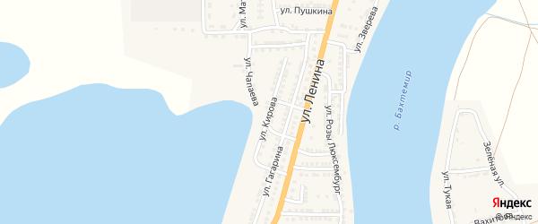 Улица Кирова на карте села Бахтемира с номерами домов