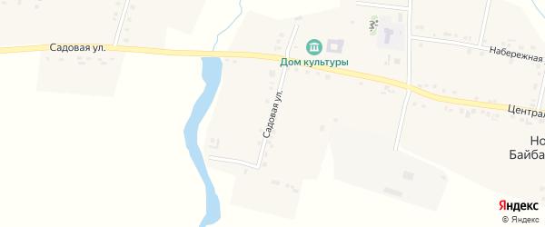 Садовая улица на карте села Новое Байбатырево с номерами домов