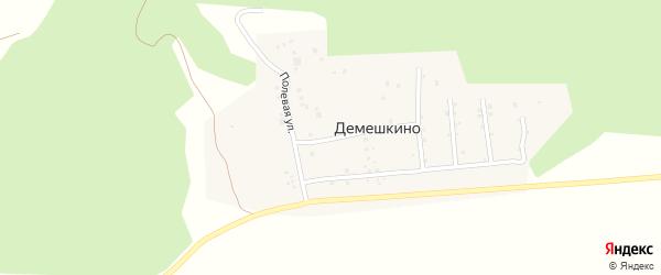Полевая улица на карте деревни Демешкино с номерами домов