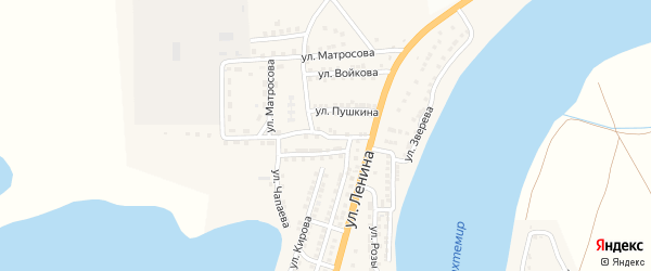 Улица Чапаева на карте села Бахтемира с номерами домов
