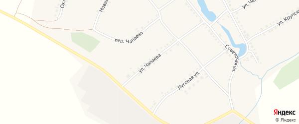 Улица Чапаева на карте села Можарки с номерами домов