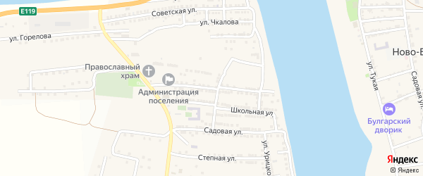 Улица Суворова на карте села Бахтемира с номерами домов