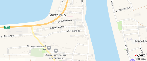 Улица Чкалова на карте села Бахтемира с номерами домов