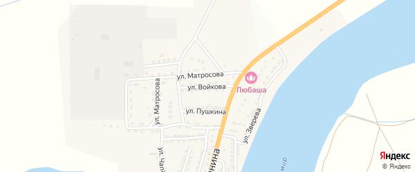 Улица Войкова на карте села Бахтемира с номерами домов