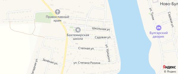 Садовая улица на карте села Бахтемира с номерами домов