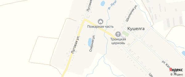 Озерная улица на карте села Кушелги с номерами домов