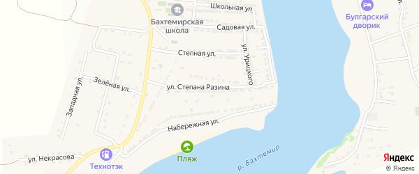 Улица Ст.Разина на карте села Бахтемира с номерами домов