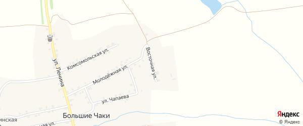 Восточная улица на карте деревни Большие Чаков с номерами домов