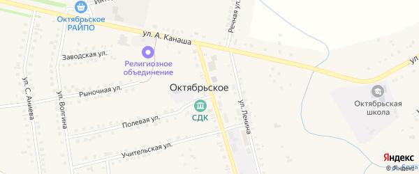 Советская улица на карте Октябрьского села с номерами домов