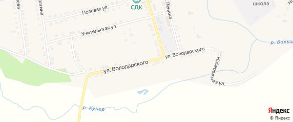 Улица Володарского на карте Октябрьского села с номерами домов
