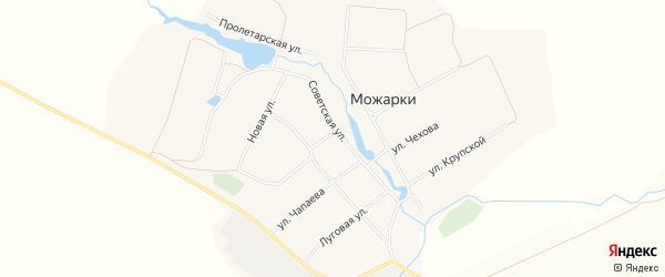 Карта села Можарки в Чувашии с улицами и номерами домов