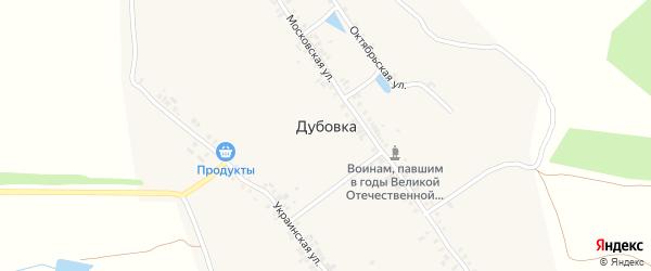 Украинская улица на карте деревни Дубовки с номерами домов