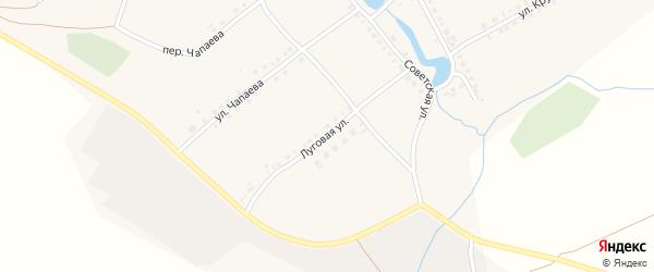 Луговая улица на карте села Можарки с номерами домов