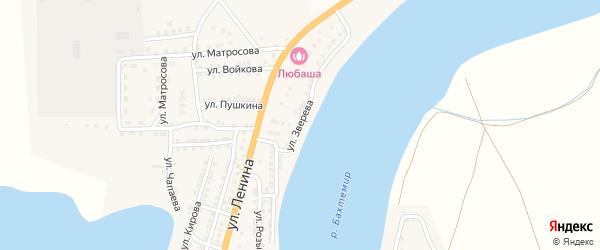 Улица Зверева на карте села Бахтемира с номерами домов