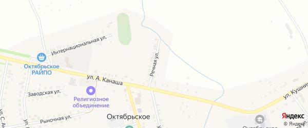 Речная улица на карте Октябрьского села с номерами домов