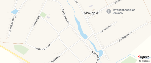 Советская улица на карте села Можарки с номерами домов