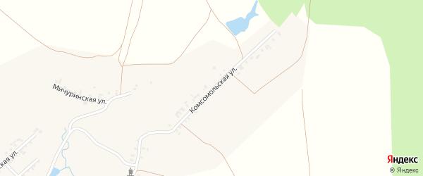 Комсомольская улица на карте деревни Астакасы с номерами домов