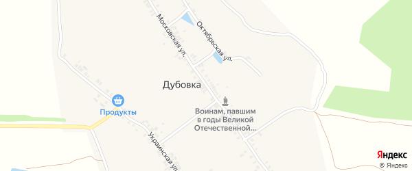 Московская улица на карте деревни Дубовки с номерами домов