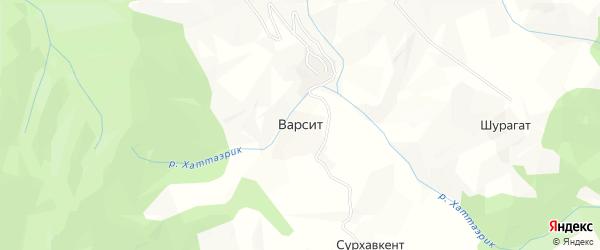 Карта села Варсита в Дагестане с улицами и номерами домов