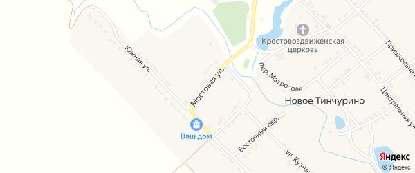 Мостовая улица на карте села Новое Тинчурино с номерами домов