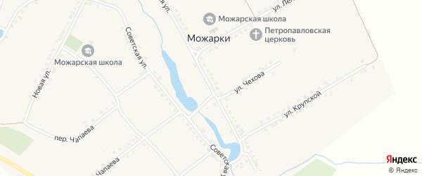 Красноармейская улица на карте села Можарки с номерами домов