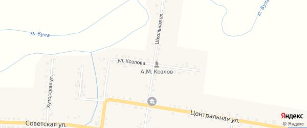 Улица Козлова на карте деревни Старые Тойси с номерами домов