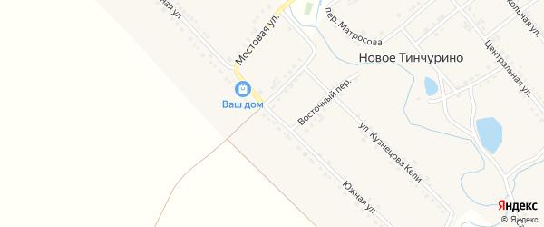Южная улица на карте села Новое Тинчурино с номерами домов