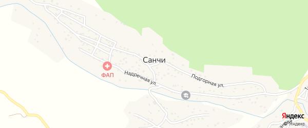 Янгикентская улица на карте села Санчи с номерами домов