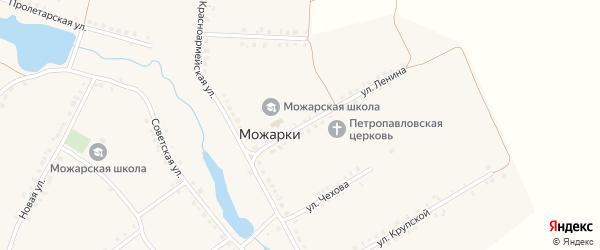 Улица Ленина на карте села Можарки с номерами домов