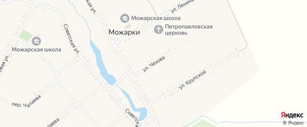 Улица Чехова на карте села Можарки с номерами домов
