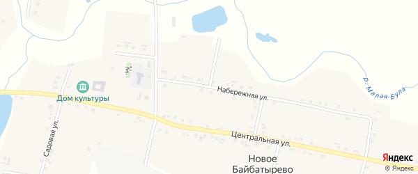 Набережная улица на карте села Новое Байбатырево с номерами домов