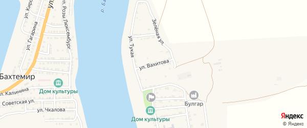 Улица Вахитова на карте села Ново-Булгары с номерами домов