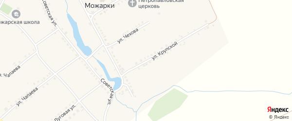 Улица Н.Крупской на карте села Можарки с номерами домов