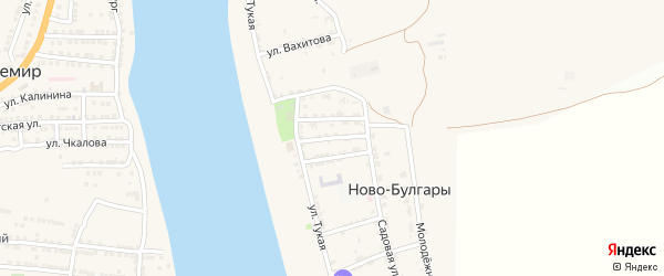 Нурмухамедова 2-я улица на карте села Ново-Булгары с номерами домов