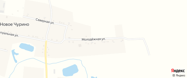 Молодежная улица на карте деревни Новое Чурино с номерами домов