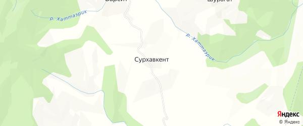 Карта села Сурхавкента в Дагестане с улицами и номерами домов