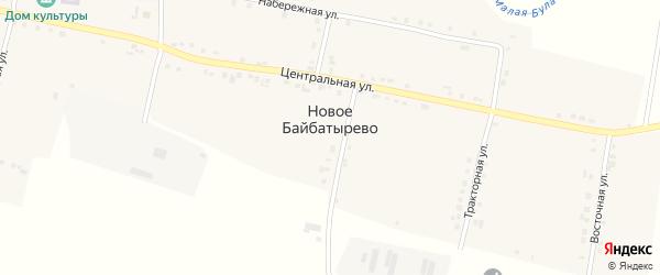 Овражная улица на карте села Новое Байбатырево с номерами домов